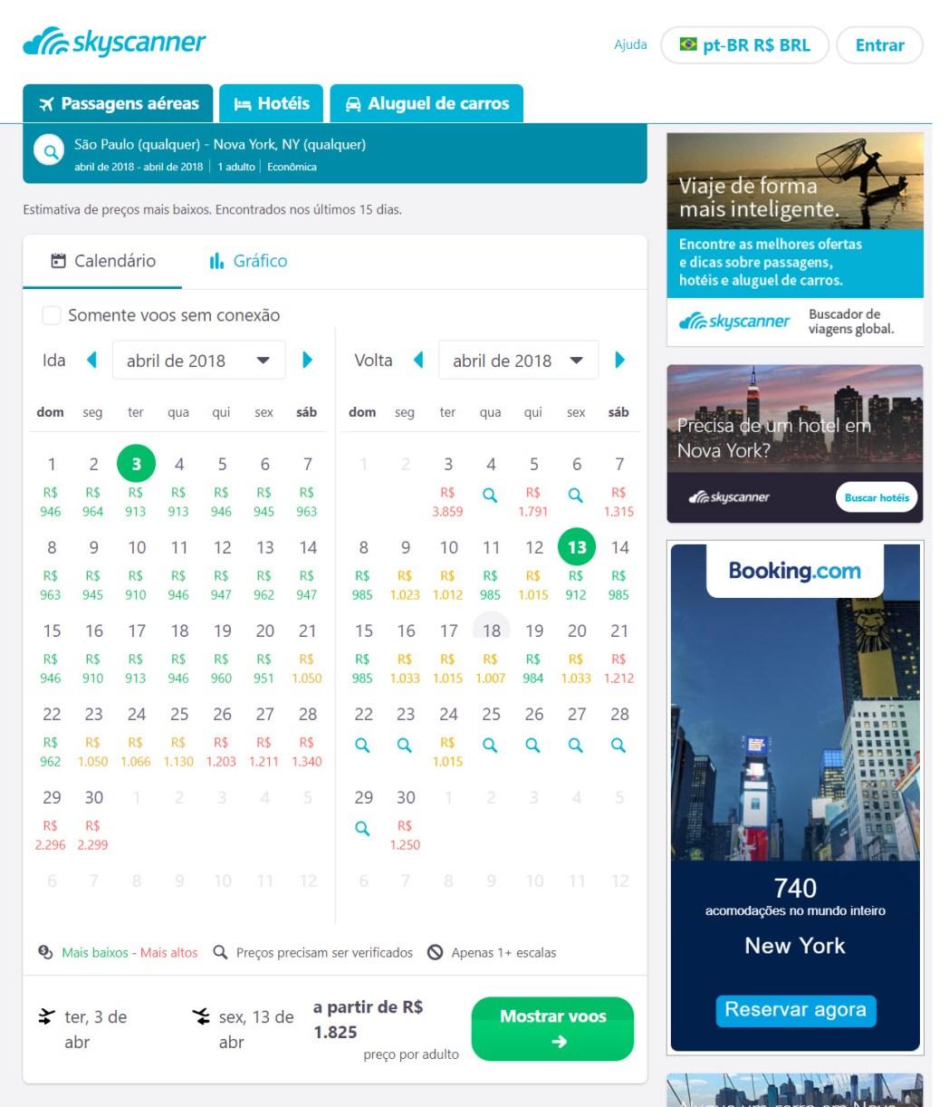 Ao clicar na imagem, você confere dicas para encontrar o mês mais barato para as suas viagens!