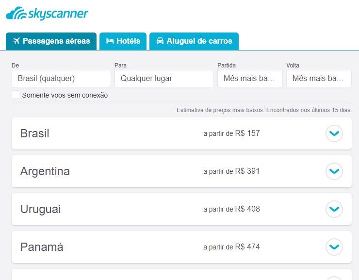 Clique na foto e saiba como fazer uma busca mês a mês com o Skyscanner!