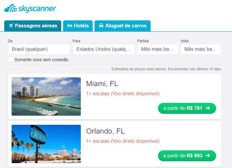 Ao clicar na foto, você confere dicas sobre como encontrar passagens aéreas baratas para os EUA!