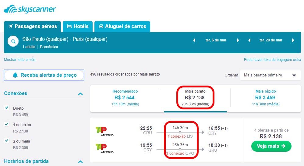 Passagens aéreas para Paris